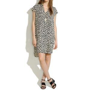 Madewell Morningside Shift Dress Leopard Sketch
